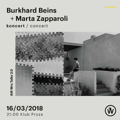 #Concert – Burkhard Beins + Marta Zapparoli