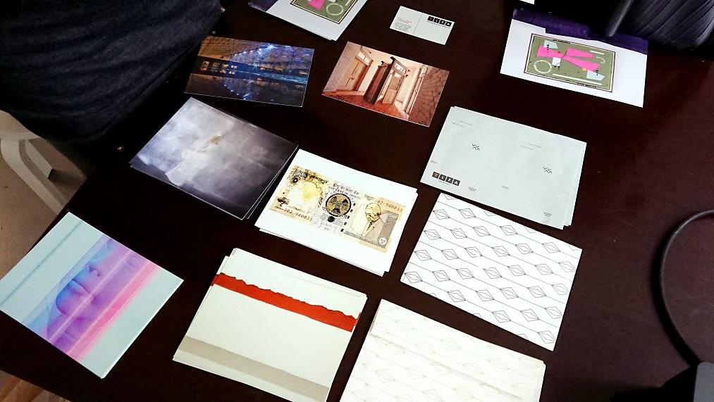 TIFA Working Studios postcards presentation