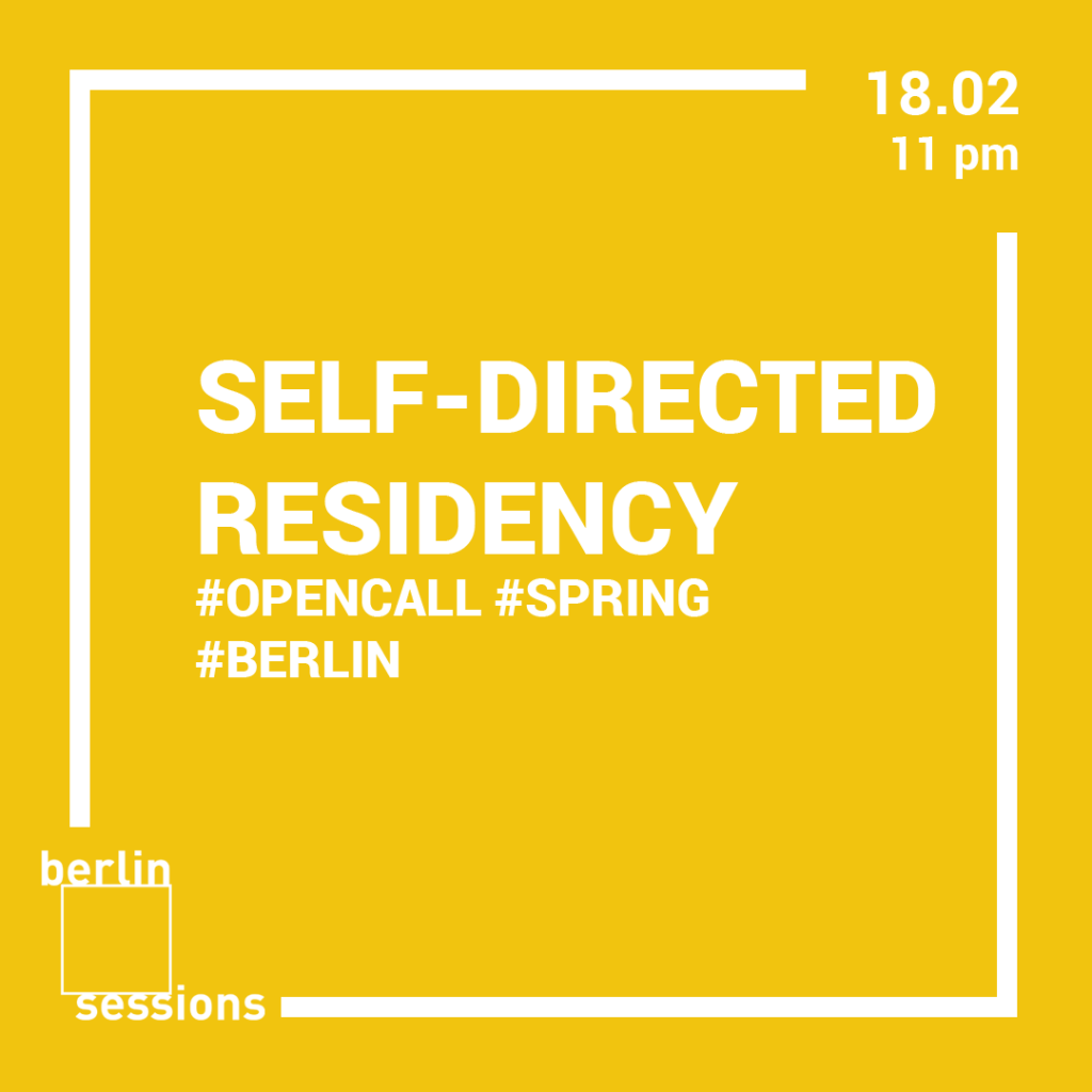 Berlin Sessions Residency announces an open call for a Spring Self-directed Residency in Berlin to take place during two months -March and April 2019. The opportunity is open to international artists, curators, researchers, creatives who would like to spend time on self-organized research, develop a body of work, use the city as a stage to connect, study and gain knowledge.